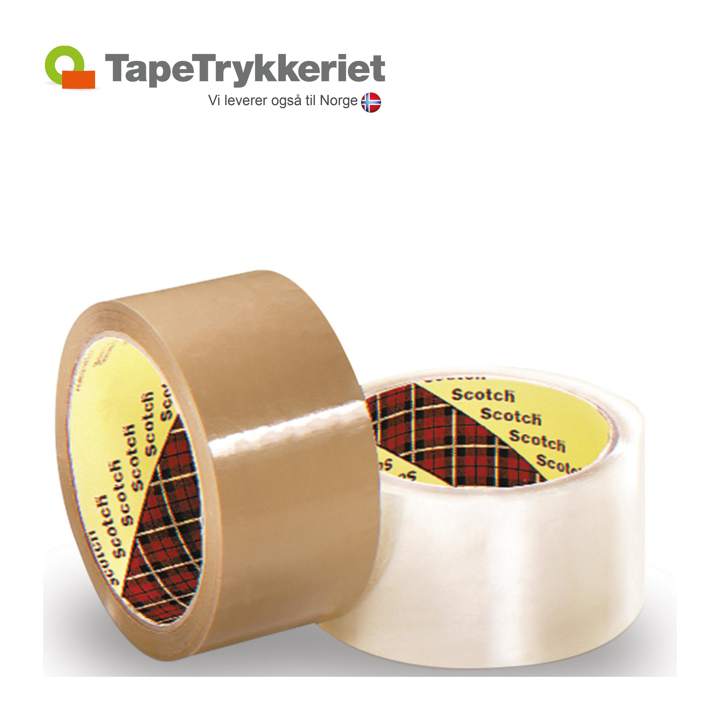3M tape med logotryk. TapeTrykkeriet.dk