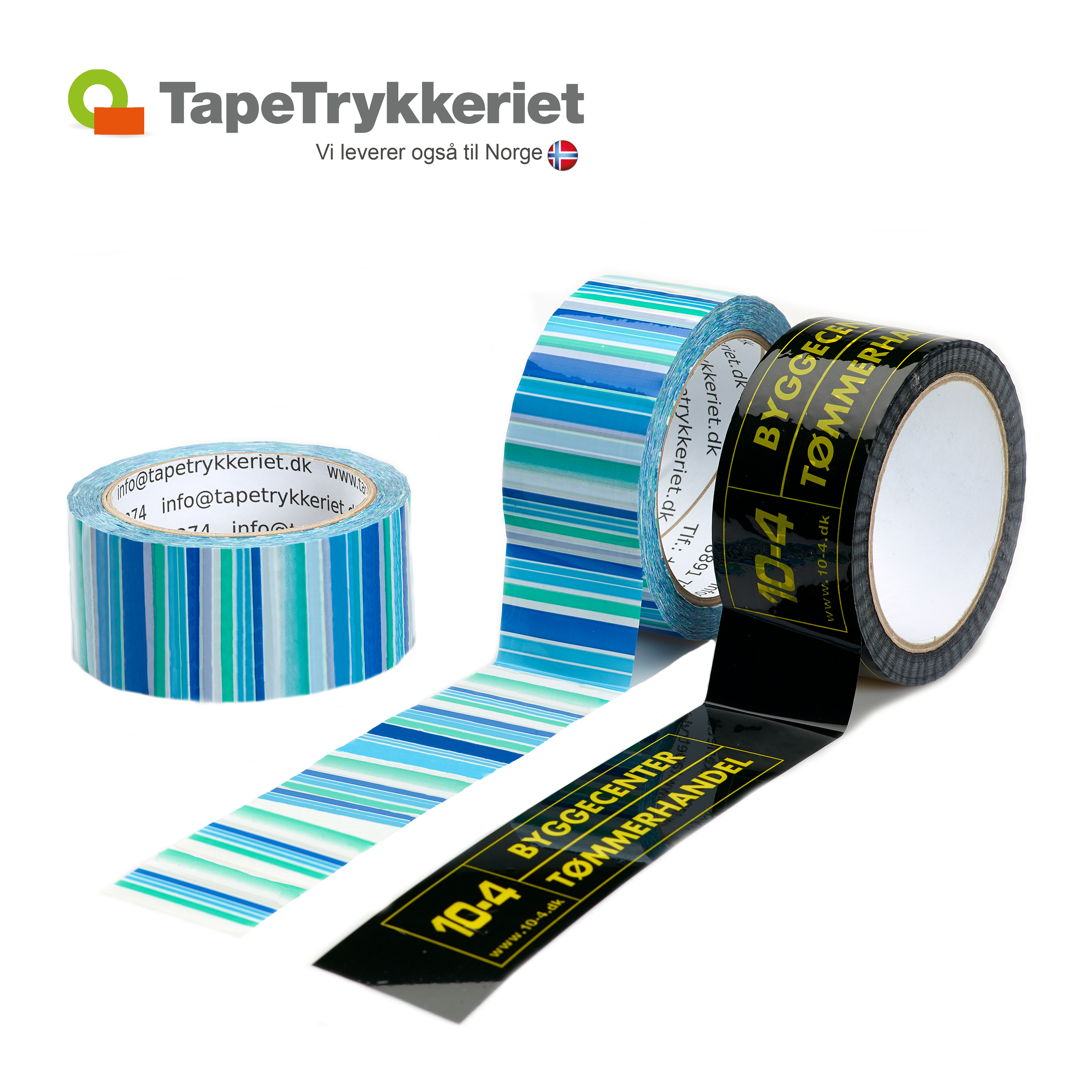 Luxustape med ekstra lim. TapeTrykkeriet.dk