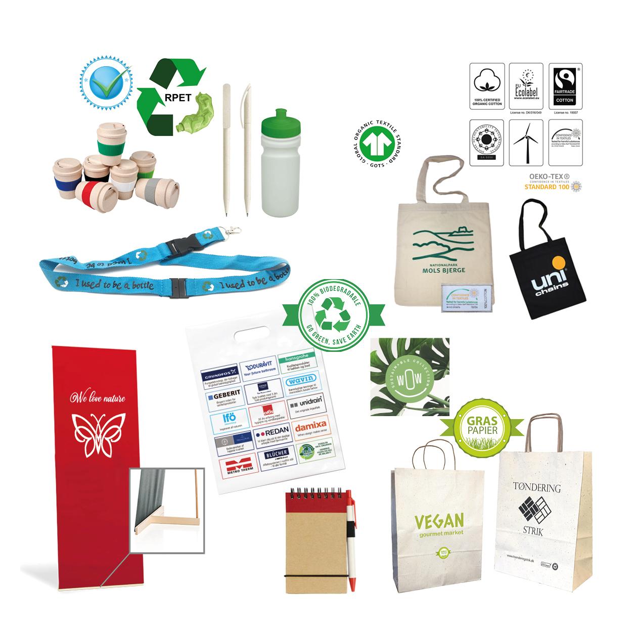 Miljørigtige produkter med logotryk. www.BetterGoGreen.dk