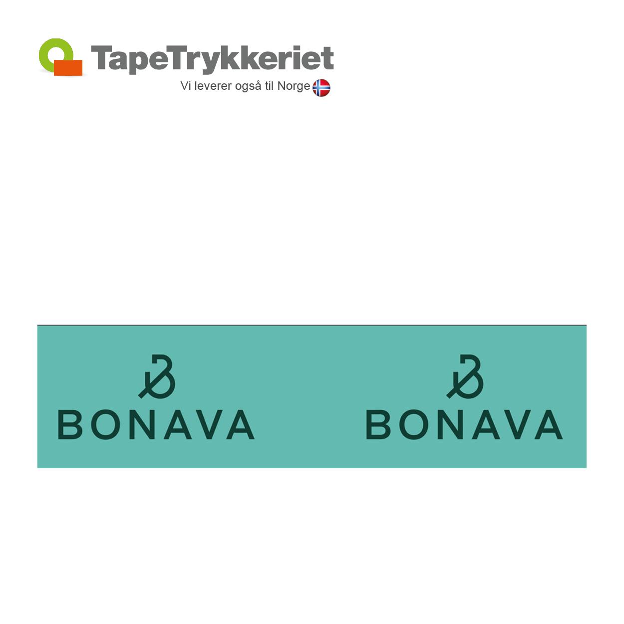 Trykfarve ovenpå bundfarve. TapeTrykkeriet.dk