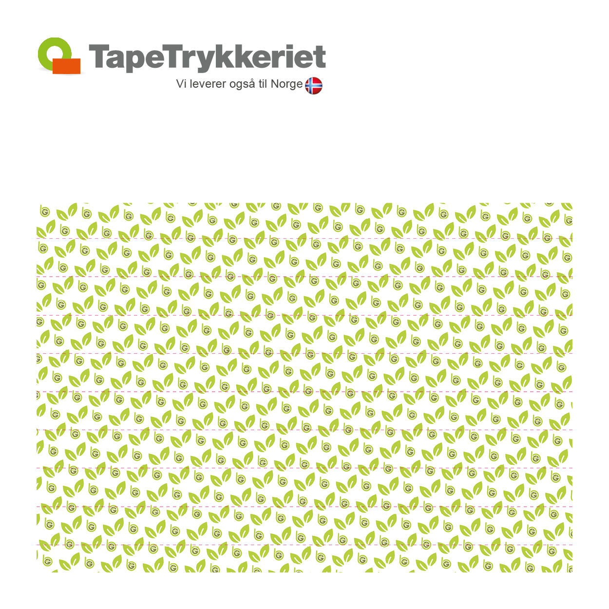 Tapettryk på tape og afspærringsbånd. Tapetrykkeriet.dk