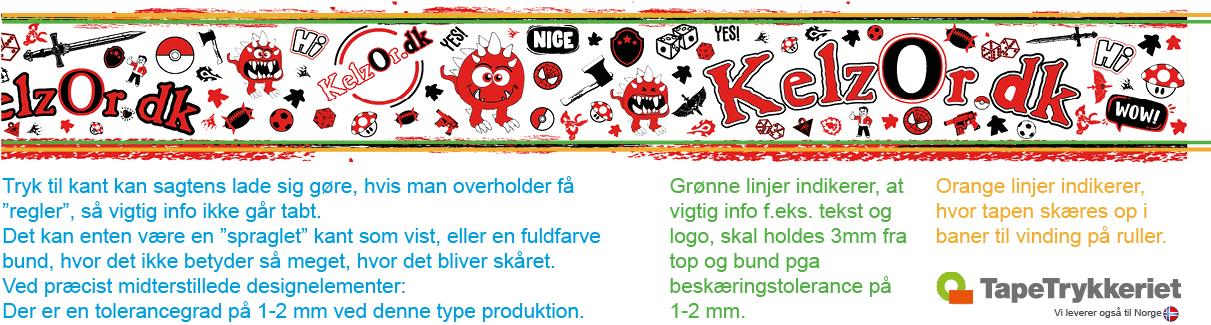 Tryk til kant på tape og afspærringsbånd. TapeTrykkeriet.dk